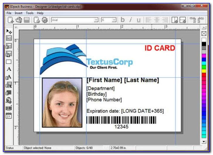 Employee Id Card Vertical Template Free Download