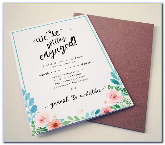 Engagement Invitation Cards Templates Free Download