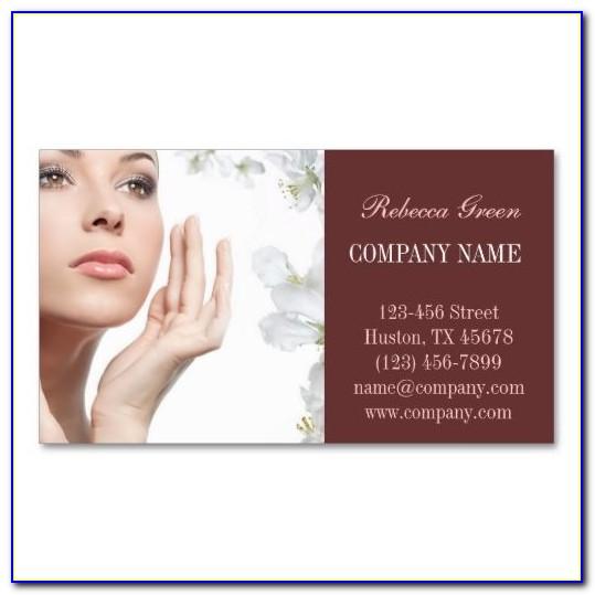 Facial Business Card Examples