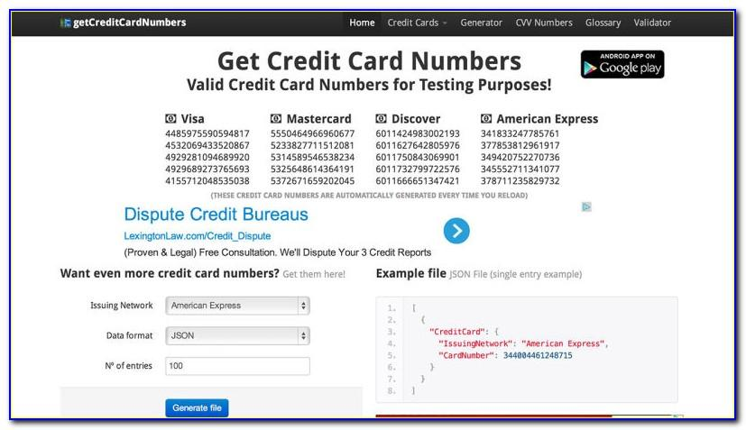 Fake Debit Cards For Free Trials