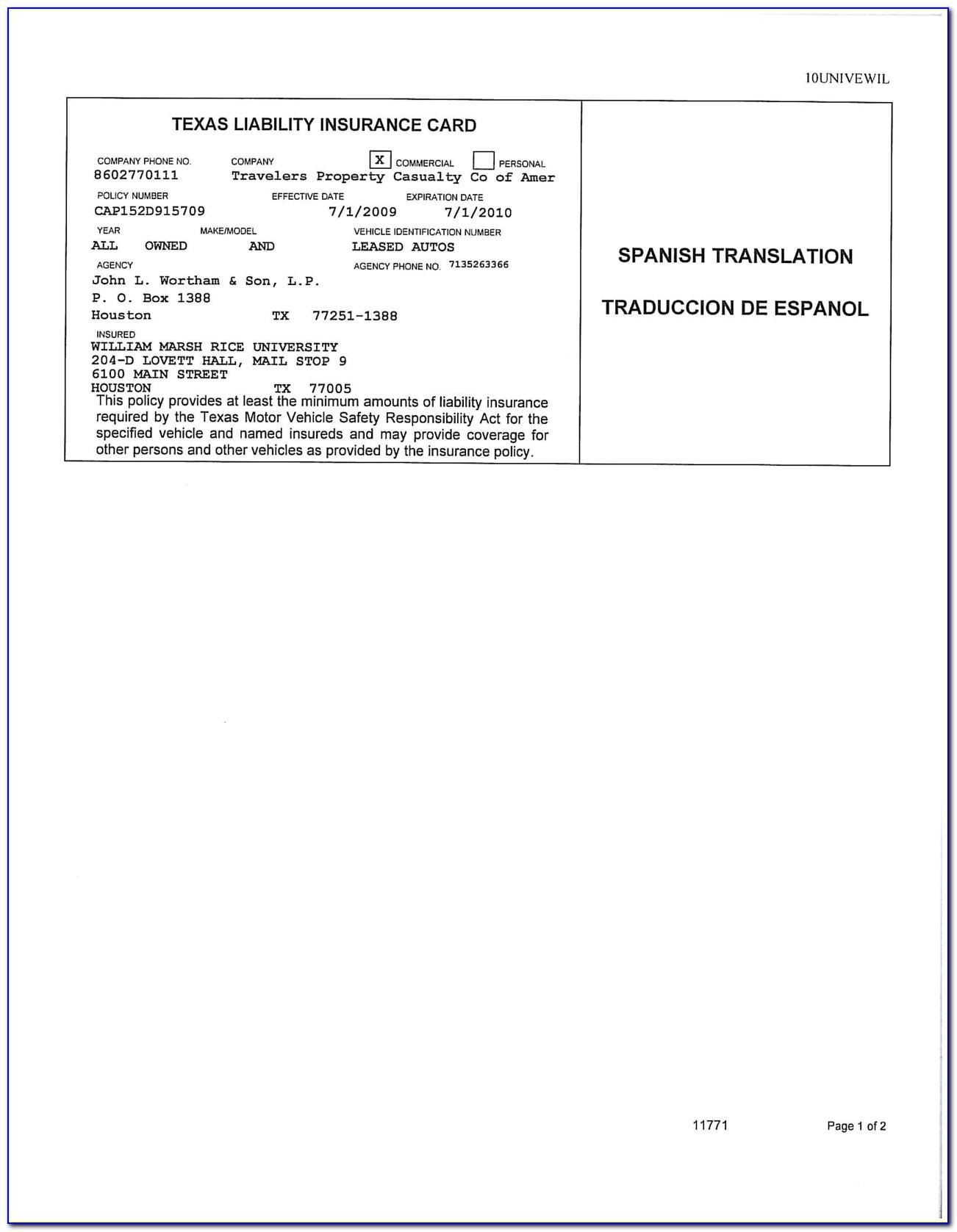 Fake Insurance Card Template Missouri