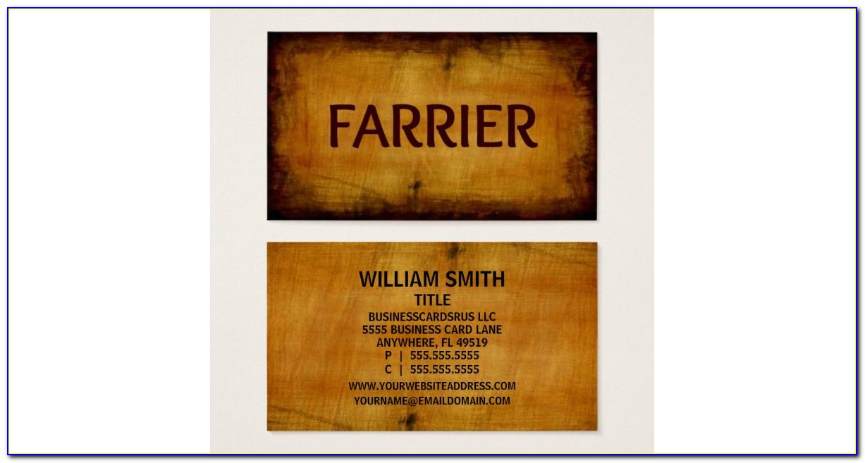 Farrier Business Cards