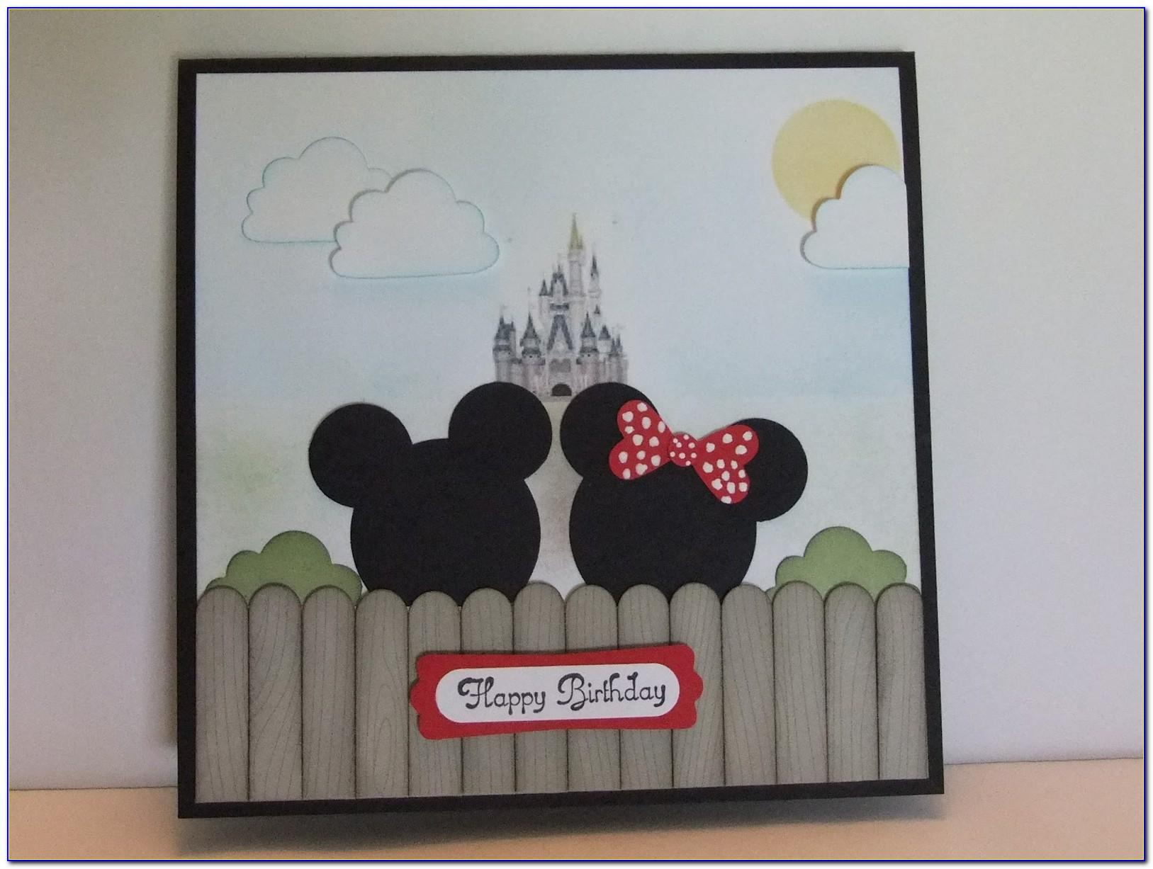 First Birthday Invitation Card Mickey Mouse