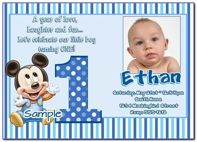 First Birthday Photo Thank You Cards