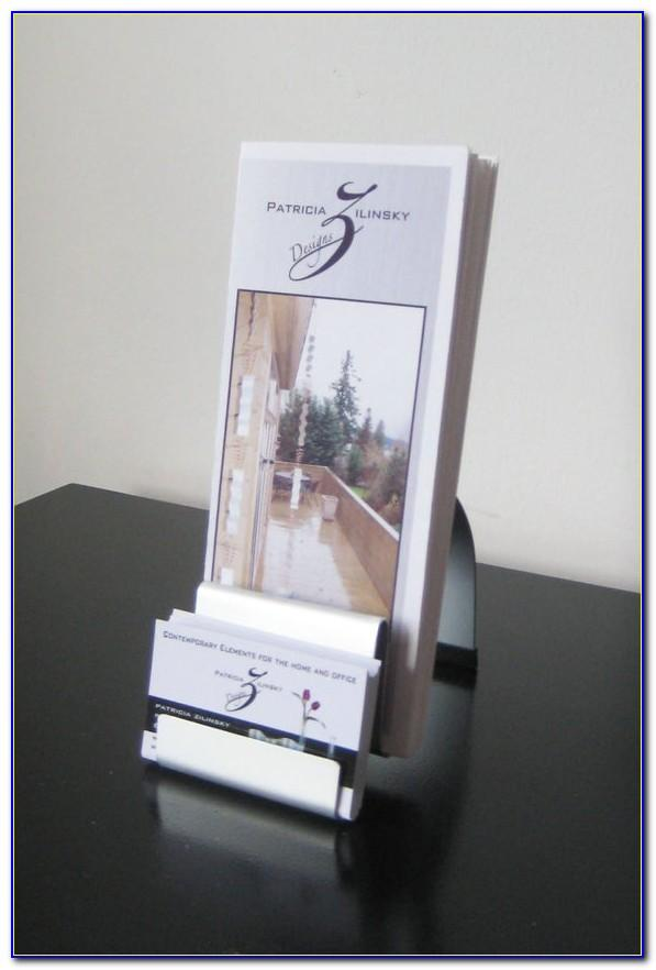 Flyer Display With Business Card Holder