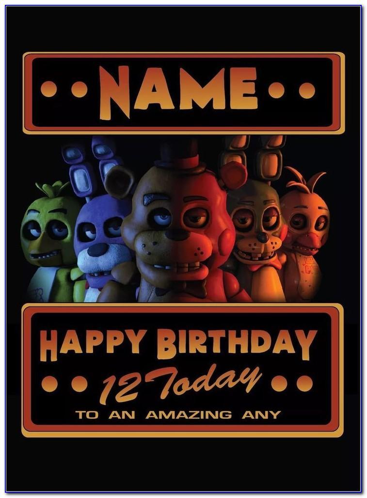 Fnaf Birthday Card Uk