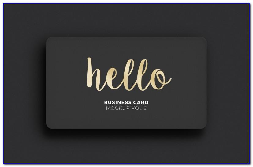 Foil Business Card Mockup Free