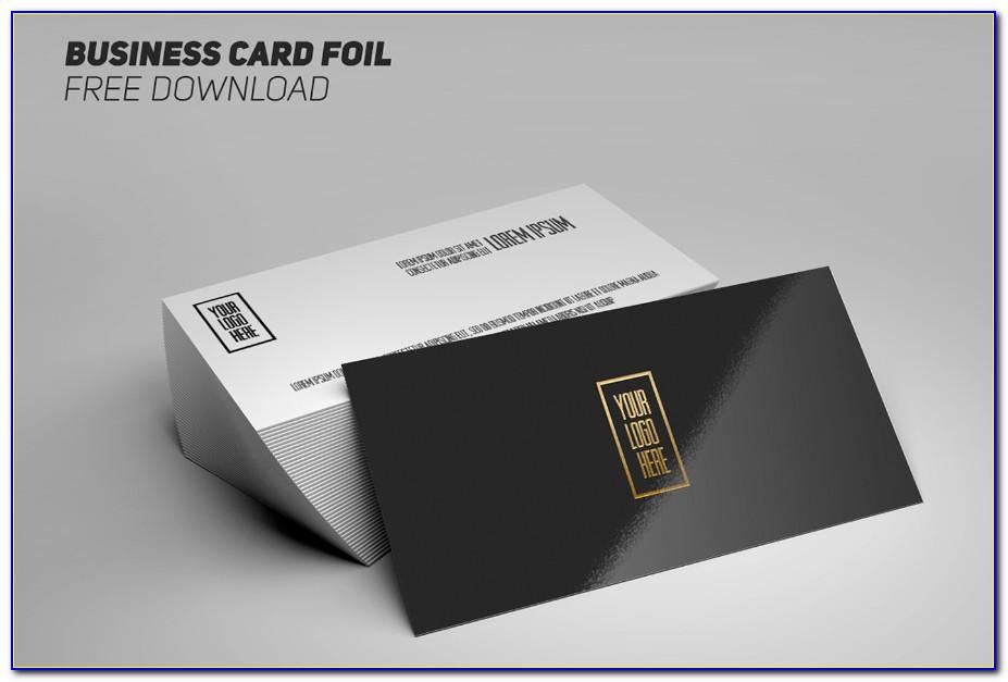 Foil Business Card Mockup Psd
