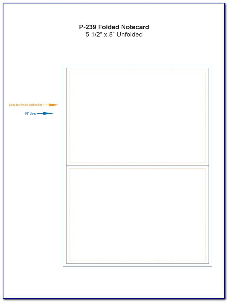 Fold Over Place Card Template Free