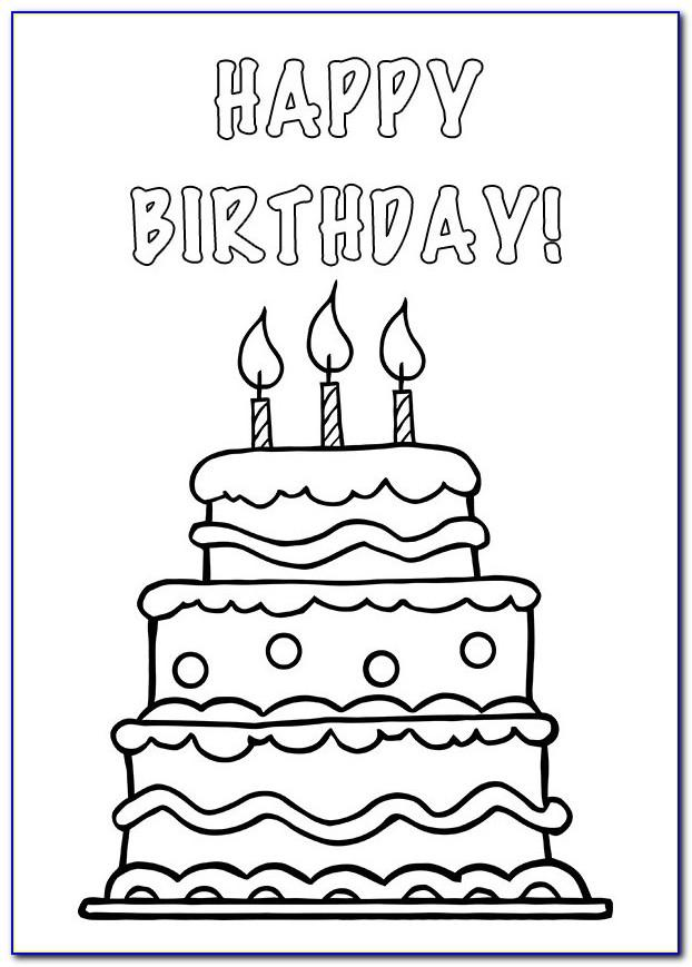 Foldable Printable Birthday Cards Black And White