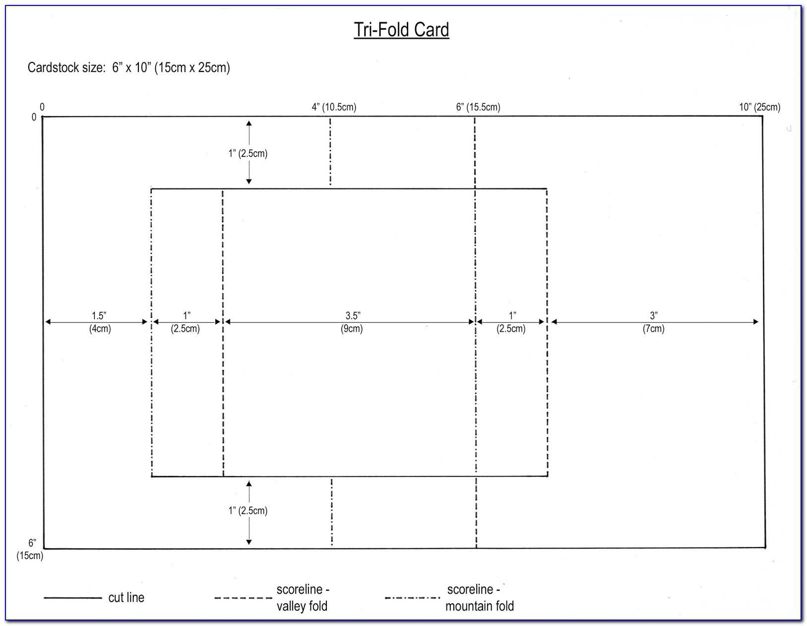 Folded Card Template Free