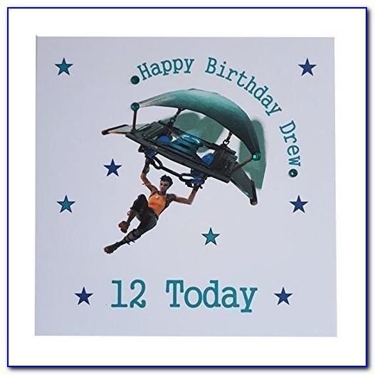 Fortnite Birthday Card Free