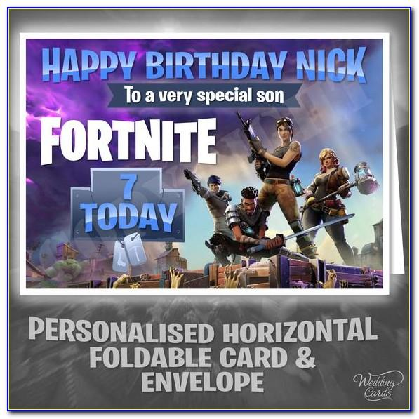 Fortnite Birthday Card Personalised