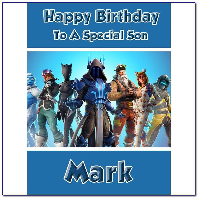 Fortnite Birthday Card Printable Free