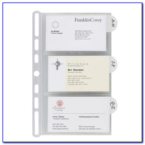 Franklin Covey Business Card Holder