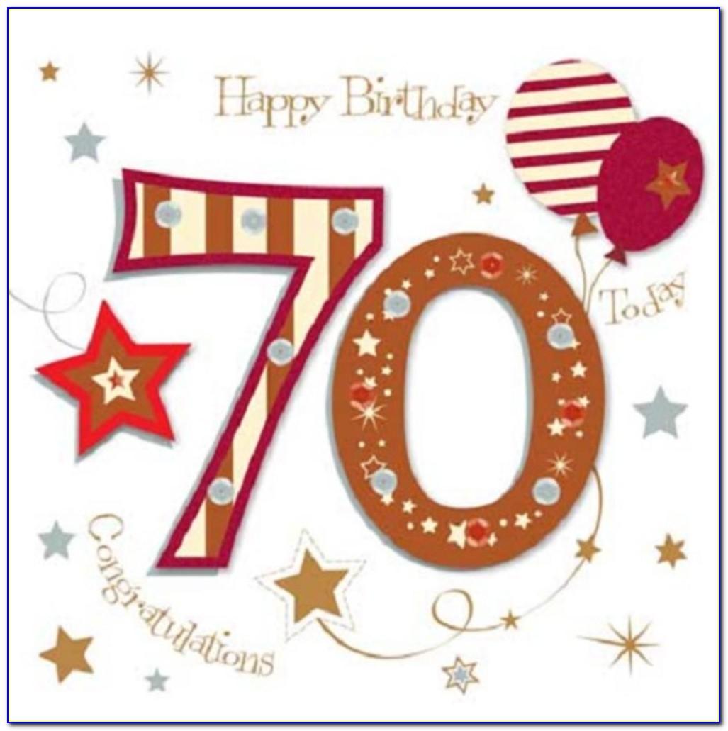 Free 70th Birthday Greeting Cards