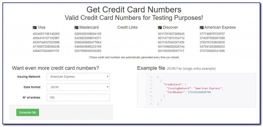 Free American Express Card Generator