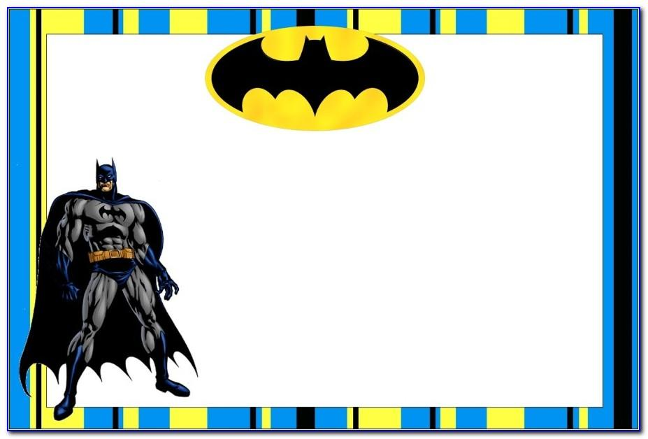 Free Batman Birthday Card Template