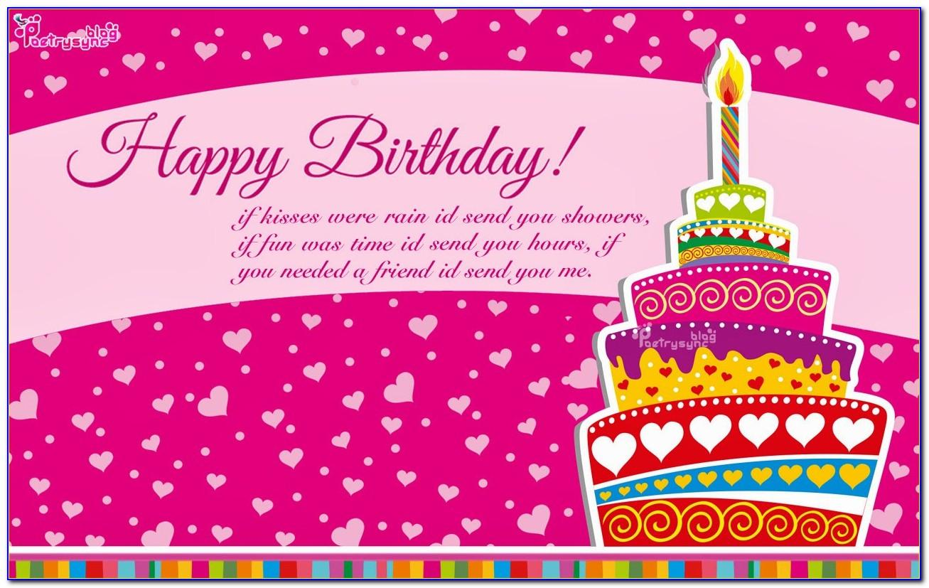 Free Birthday Card Sayings