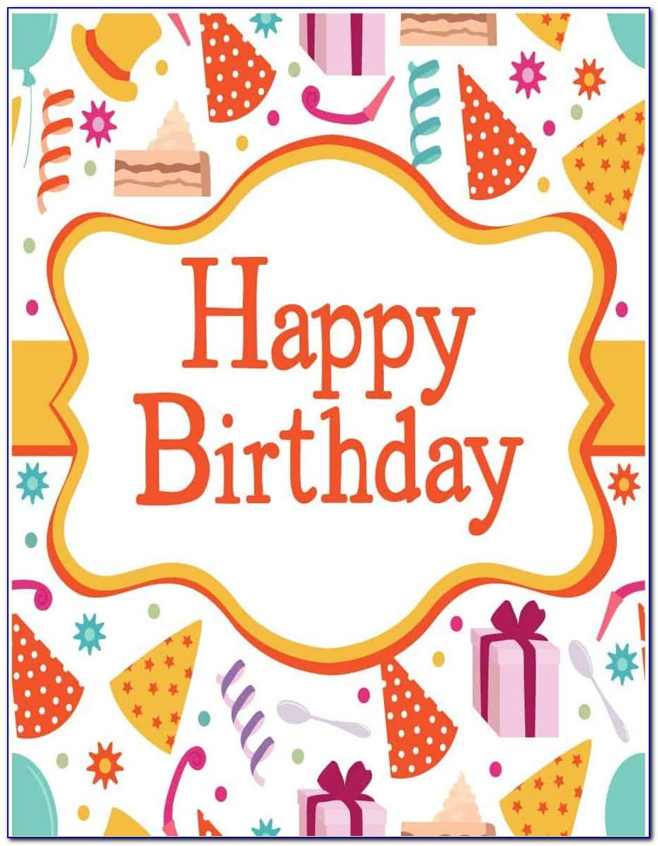 Free Birthday Card Templates For Word