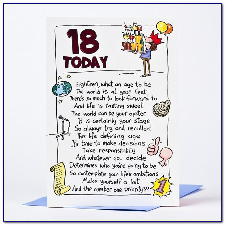 Free Birthday Cards For 18 Year Olds