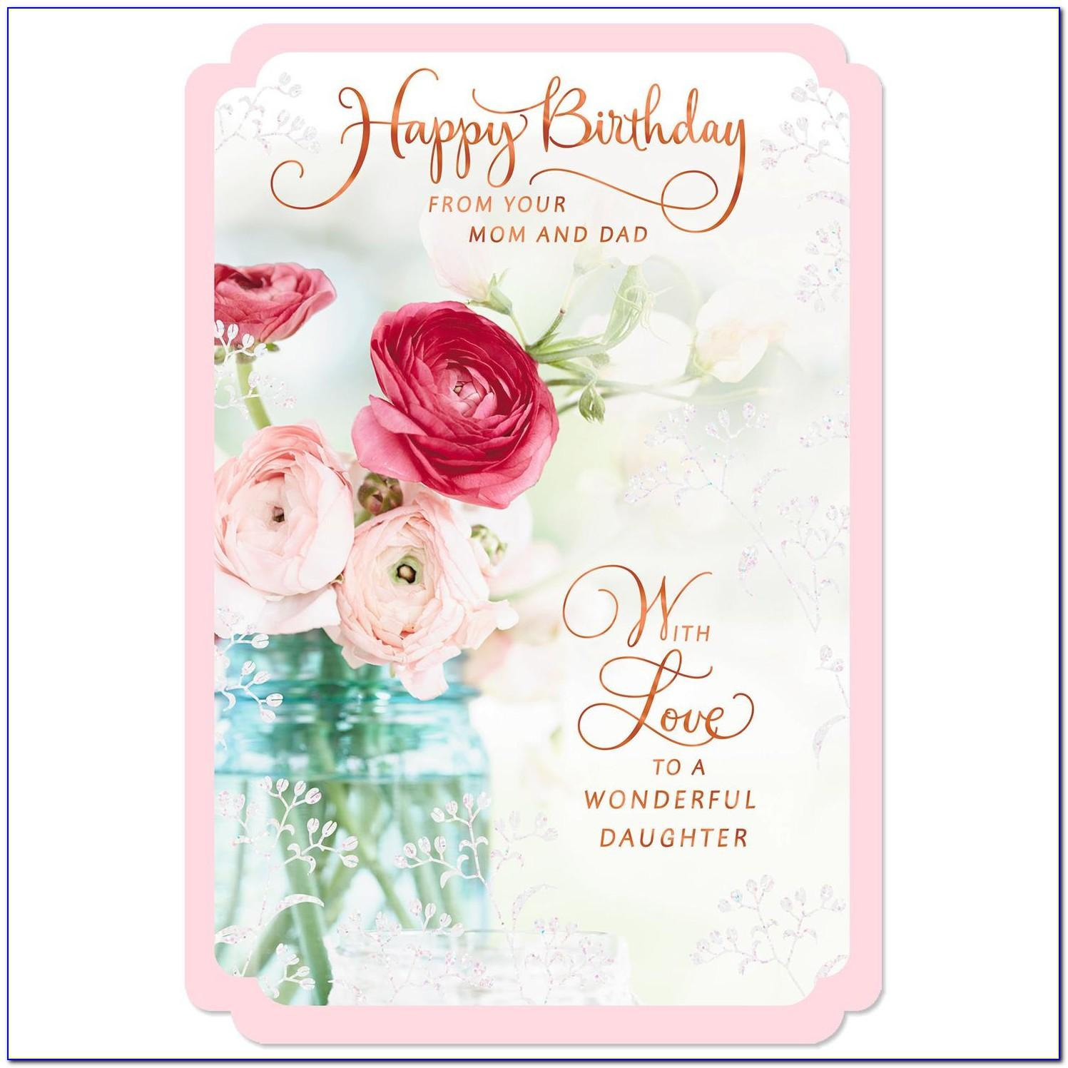 Free Birthday Cards For Daughter From Mom And Dad