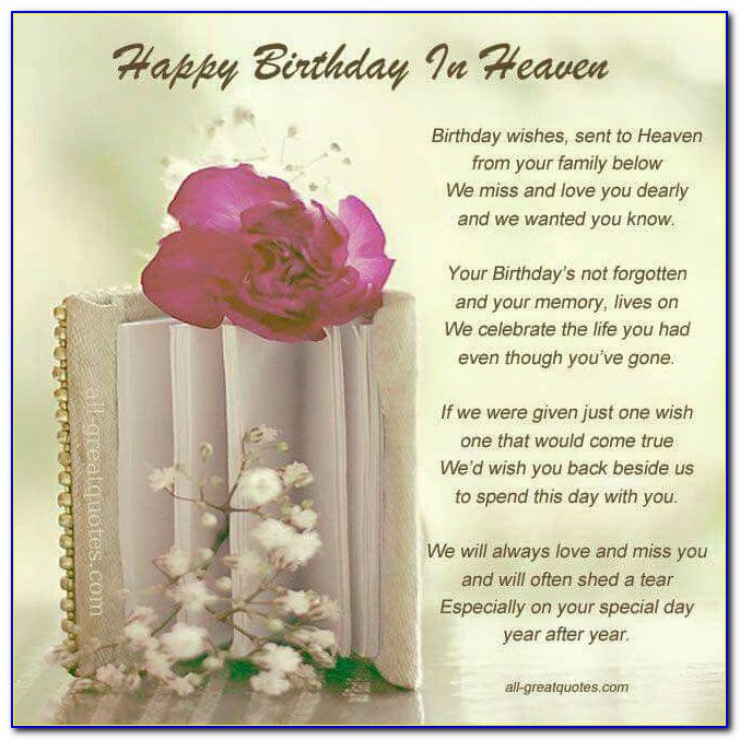 Free Birthday Cards For Husband In Heaven