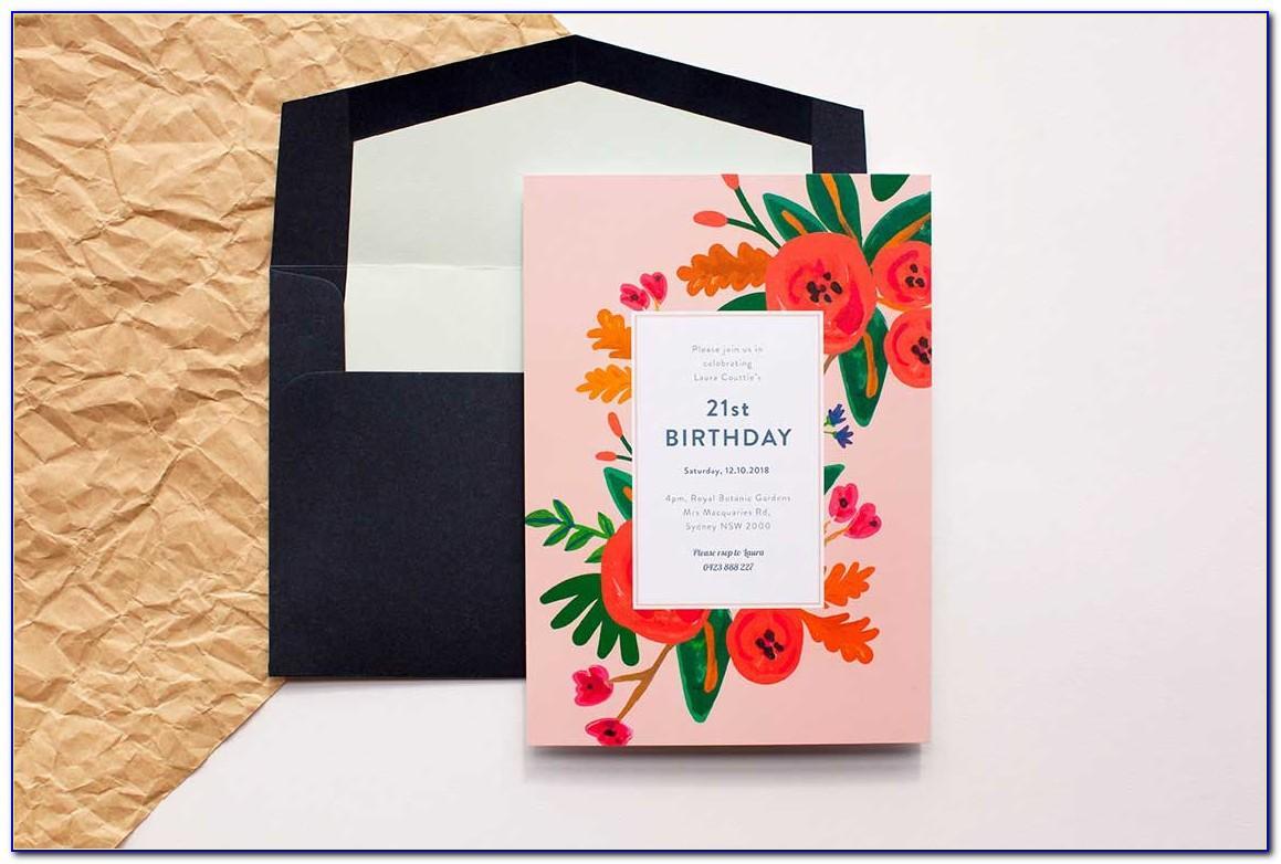 Free Birthday Invitation Card Template Word