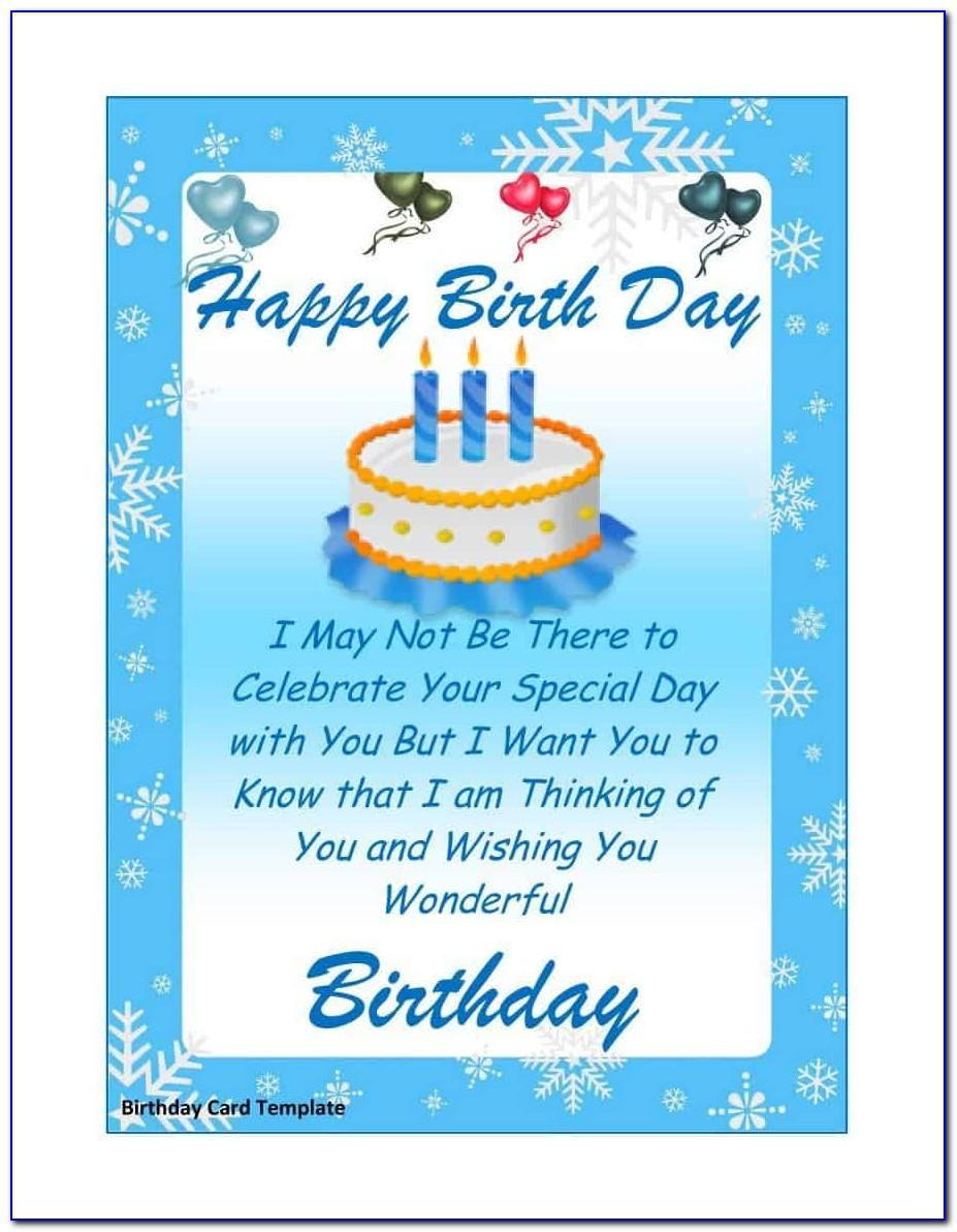 Free Blank Birthday Card Templates For Word