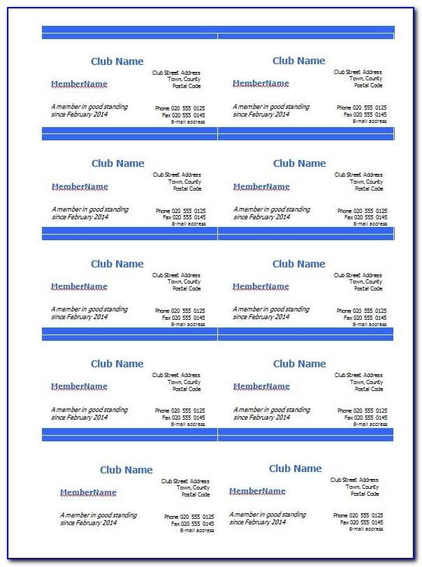 Free Blank Membership Card Template