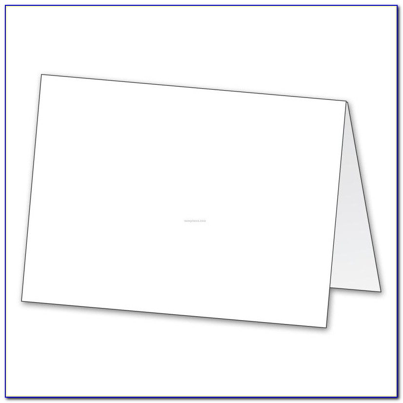 Free Blank Tent Card Template