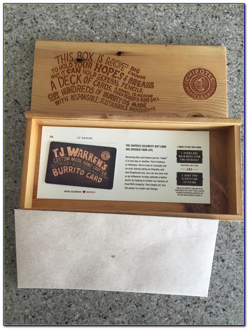 Free Chipotle Burrito Card