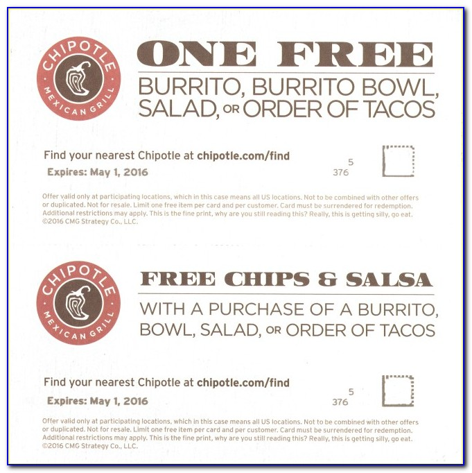 Free Chipotle Card
