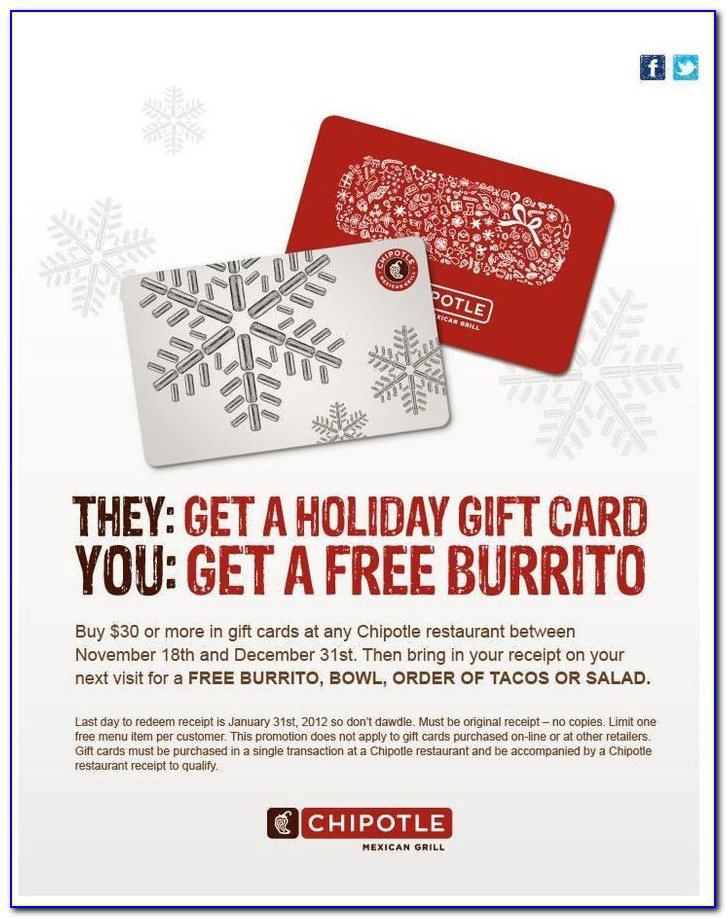 Free Chipotle Gift Card Today