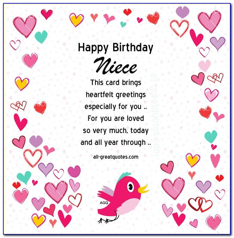 Free E Birthday Cards For Niece