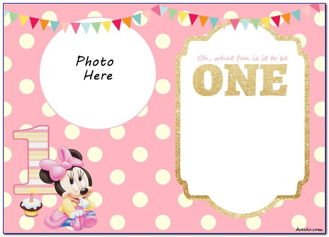 Free Editable 1st Birthday Invitation Card