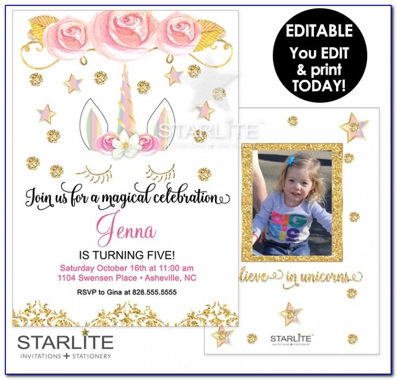 Free Editable First Birthday Invitation Cards