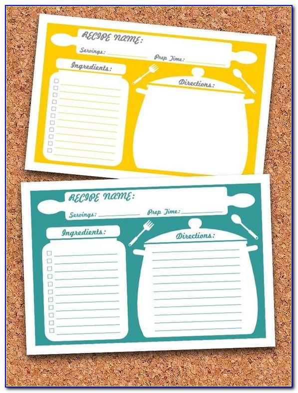 Free Editable Recipe Card Templates 4x6