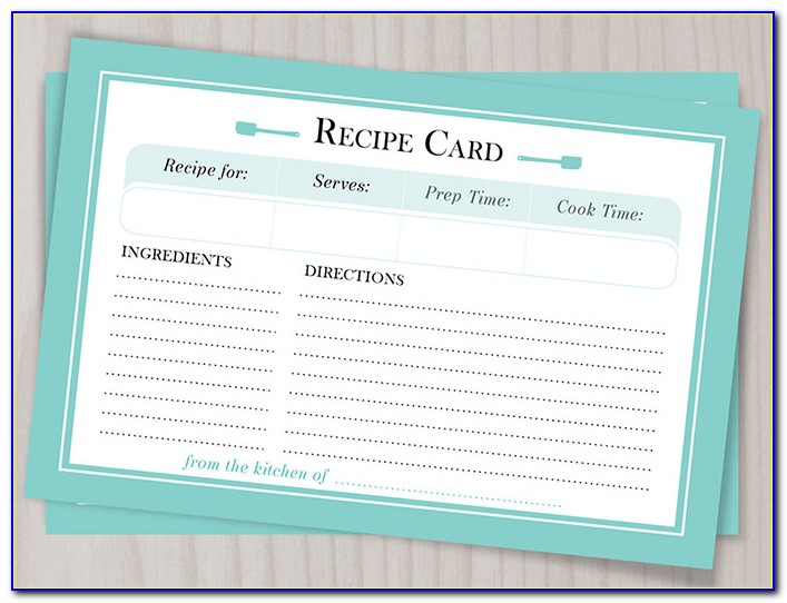 Free Editable Recipe Card Templates For Word