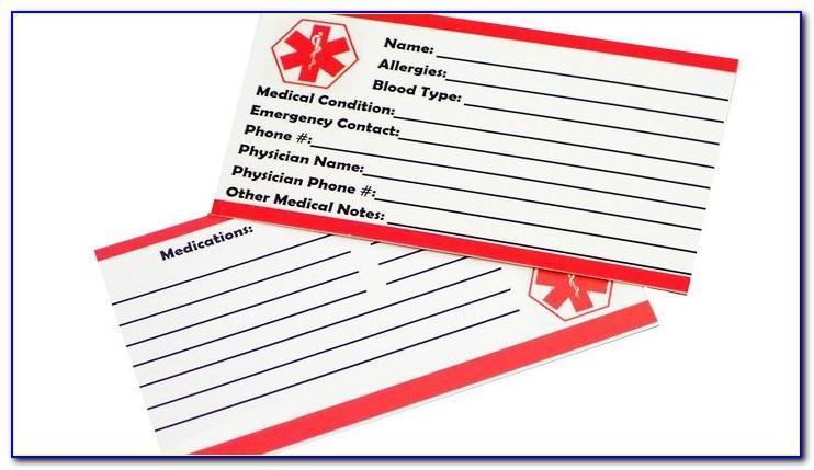 Free Emergency Medical Id Wallet Card