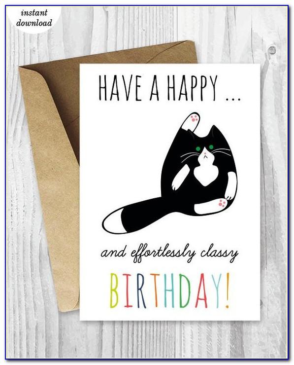 Free Funny Printable Birthday Cards