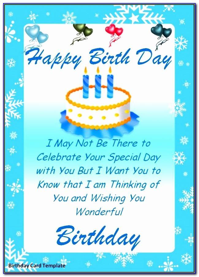 Free Happy Birthday Card Template Word