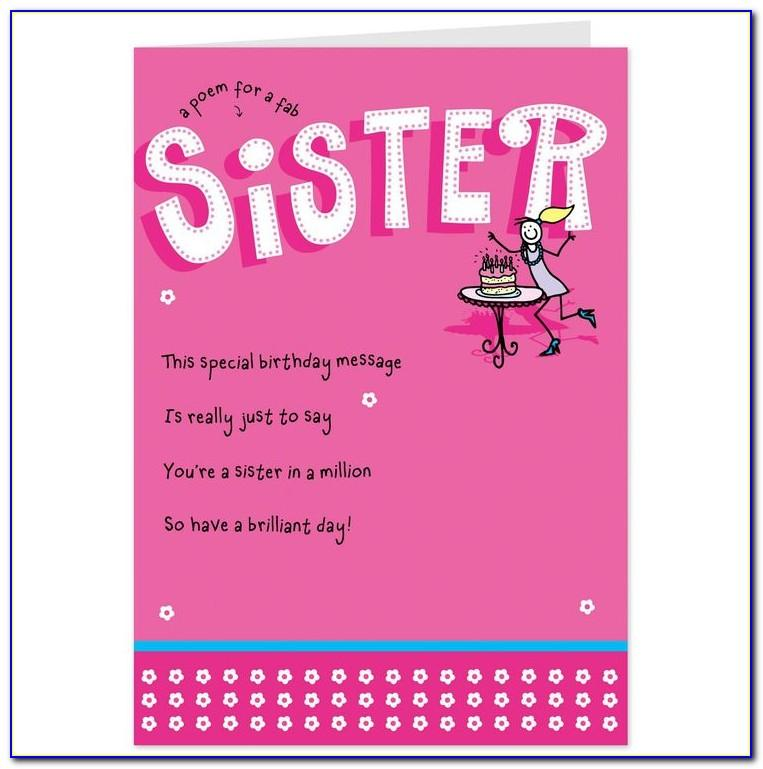 Free Happy Birthday Cards For Sister