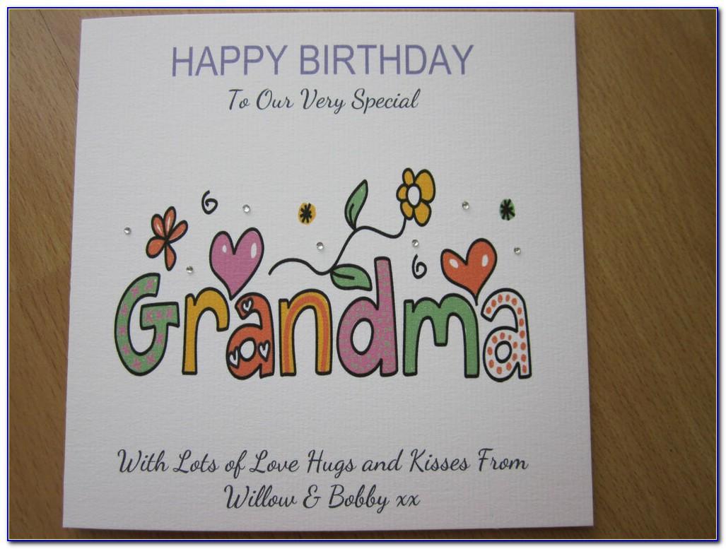 Free Happy Birthday Grandma Cards