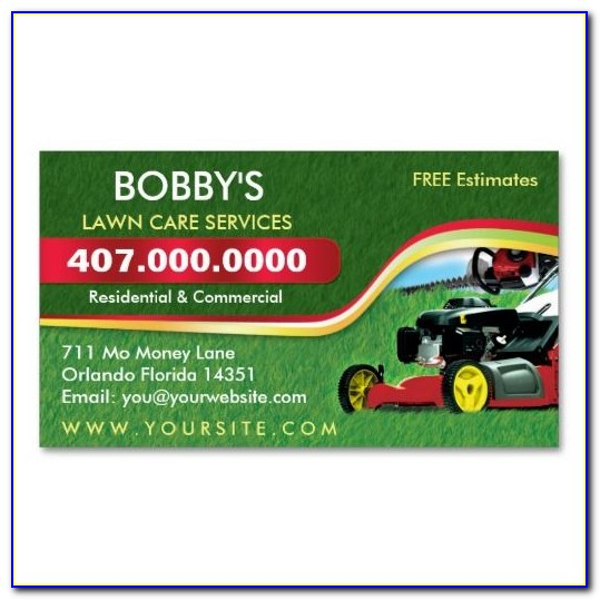 Free Lawn Mowing Business Card Templates