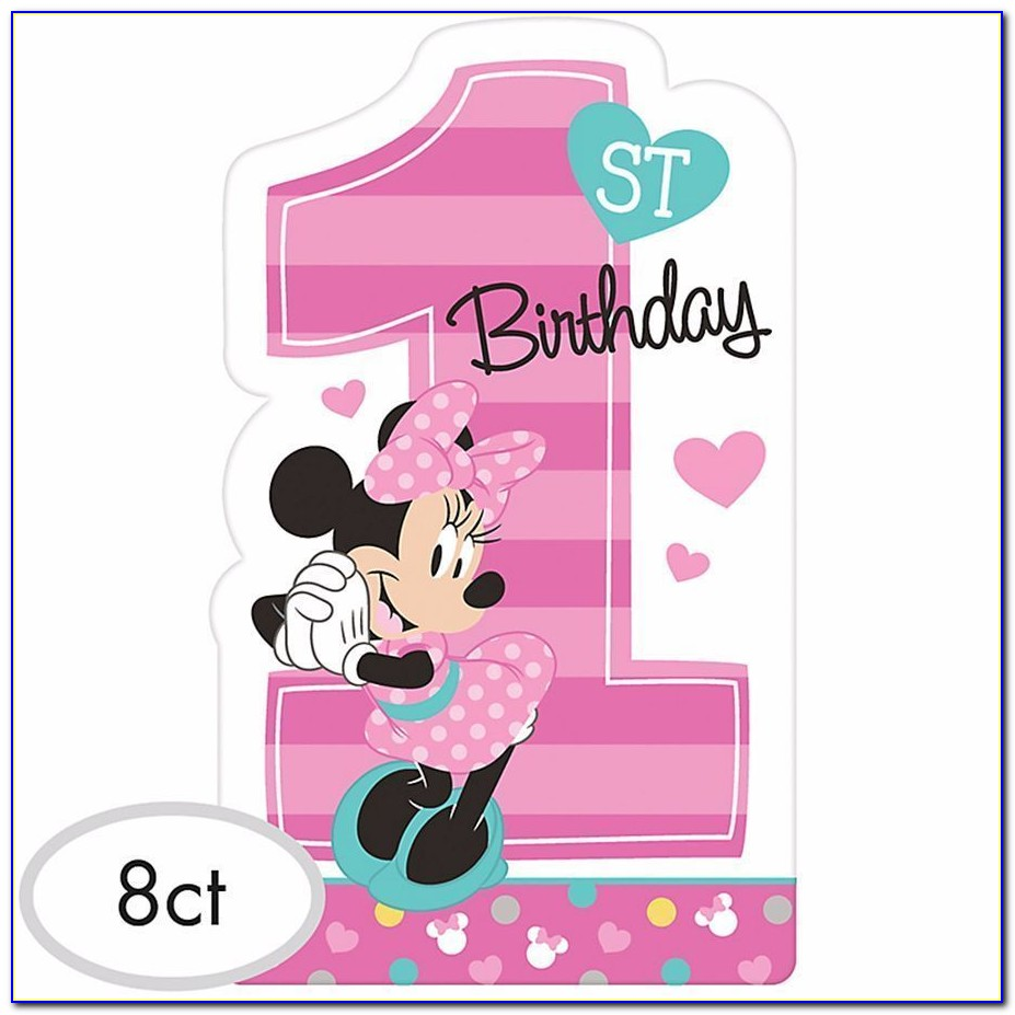Free Minnie Mouse Birthday Card Template