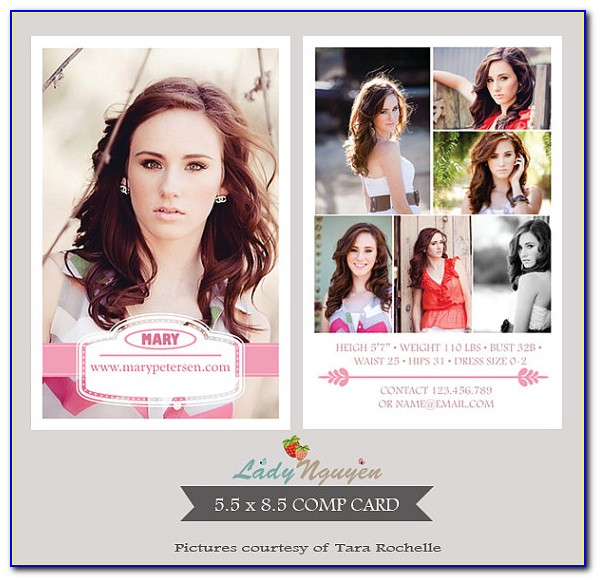 Free Model Comp Card Template Download