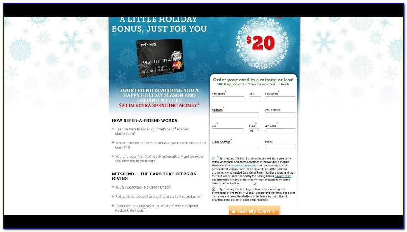 Free Netspend Credit Card