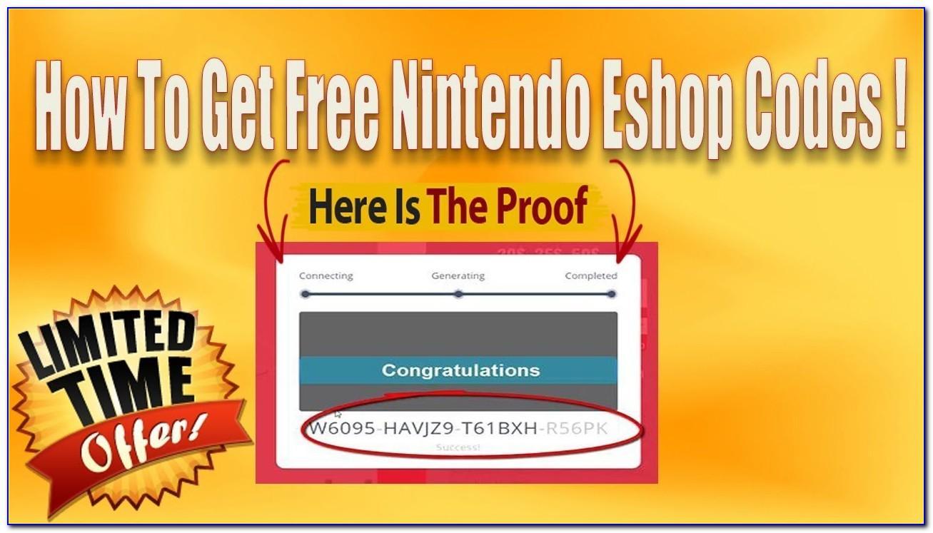 Free Nintendo Eshop Cards Generator
