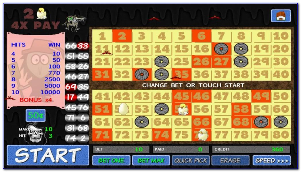 Free Online Four Card Keno Games